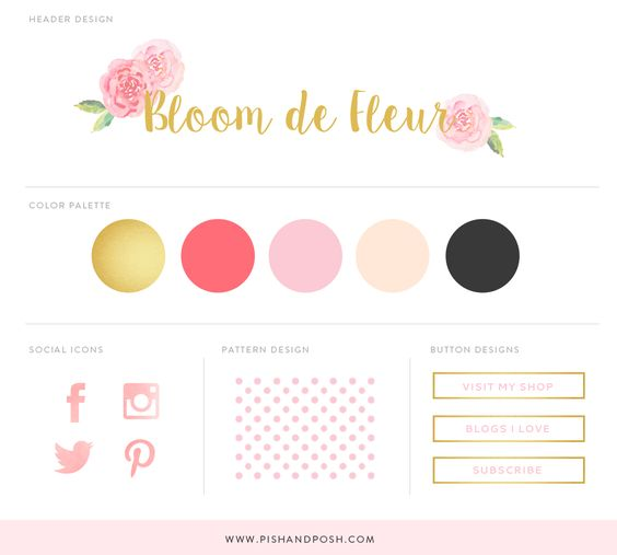 Today we have a mini blog candy kit that will add some cuteness to your blog. This free feminine blog branding kit includes a blog background, a blog header