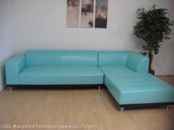 Blue furniture tiffany blue and tiffany blue furniture on for Blue leather chaise
