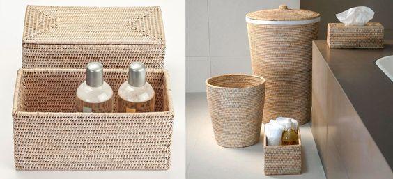 Cette semaine, découvrez la collection d'#accessoires bain Decor walther. La collection Basket existe en 2 coloris : Beige et marron  http://bit.ly/2ec1YdX