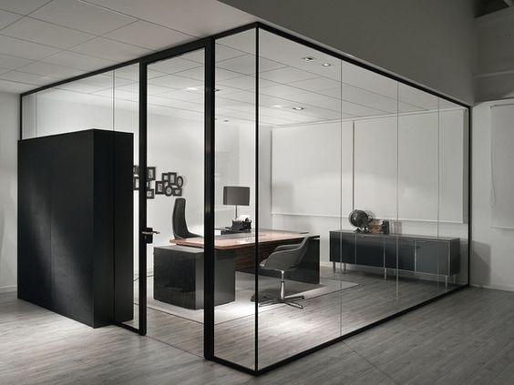 glass divider partition ideas modern design | offices | Pinterest ...