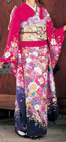 World of beautiful Japanese kimono Furukode