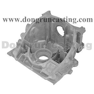 Housing part is made by sand casting, suitable for Auto and motor components. http://www.dongruncasting.com/Capabilities/Aluminum_Sand_Casting.htm