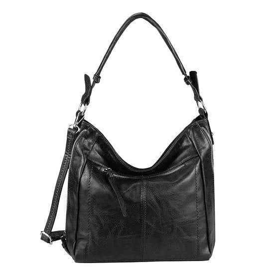 Damentasche Beuteltasche Handtasche Schultertasche Schwarz Shopper Crossbag