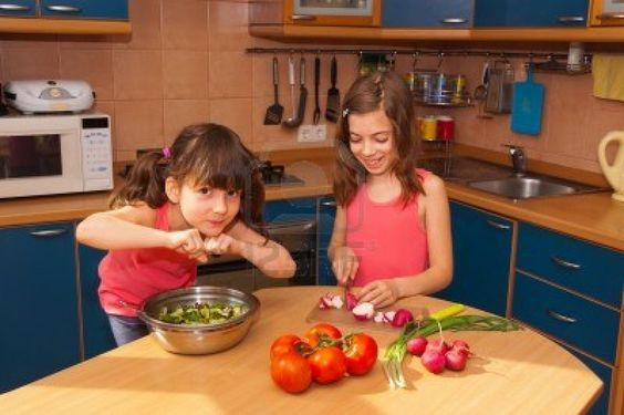 http://us.123rf.com/400wm/400/400/jaysi/jaysi1206/jaysi120600009/13971308-children-cooking-at-home-happy-smiling-girls-cook-healthy-food-tog...