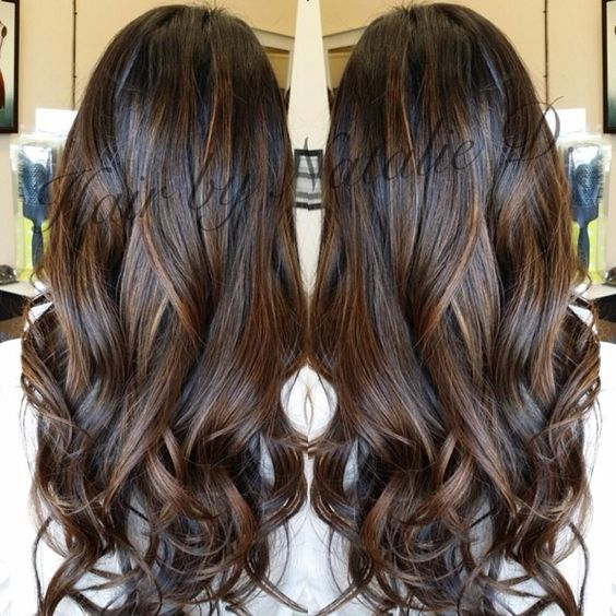 Perfect balayage for black hair!! natalied_makeup_hairs photo on Instagram