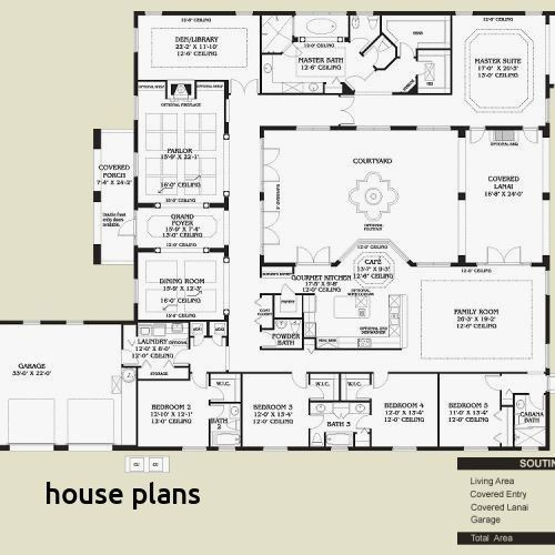 Spanish Style Home Plans With Courtyard Spanish Style Homes Plans Mediterranean Floor Plans Mexican Style Homes