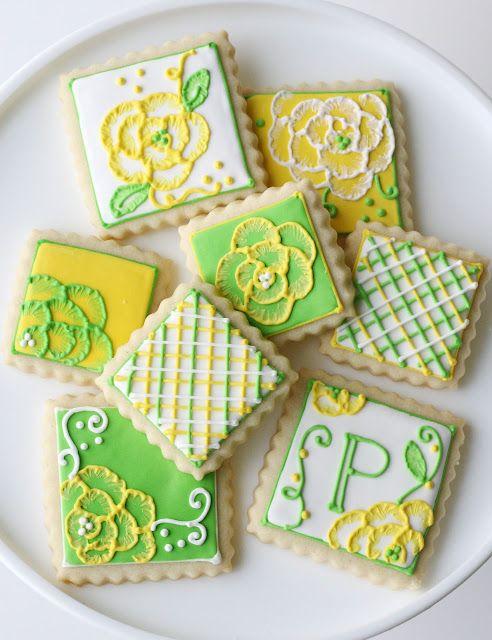 ...Beautifully decorated cookies!: Sugar Cookies, Treats Bright, Flower Cookies, Spring Desserts, Glorious Treats, Decorated Cookies, Cookie Ideas, Bright Spring, Spring Cookies