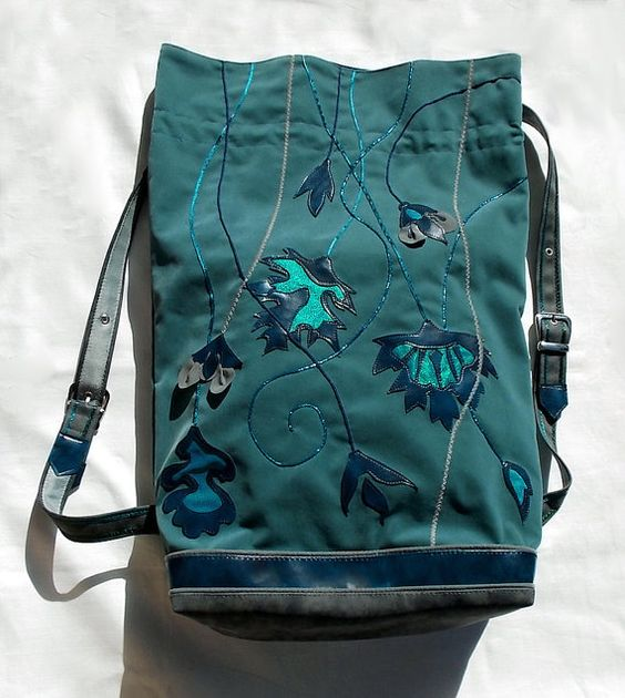 """Elven haversack Middle Earth, Tolkien Silmarillion LOTR, """"I began to do such backpacks for myself first, because I needed style, that is exquisite, but somehow handy and cozy - to be a queen and to run in the forest in the meanwhile :)"""""""
