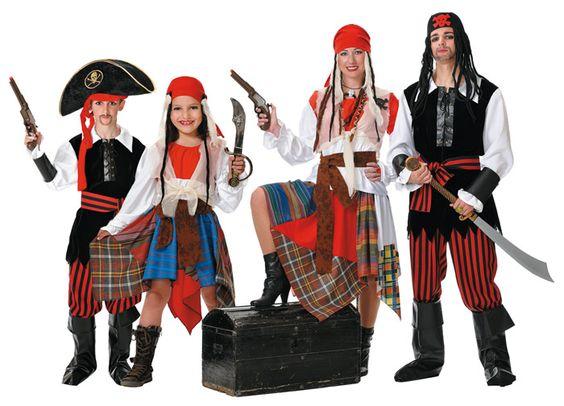 Disfraces de Piratas para Familias en www.disfracesbacanal.es
