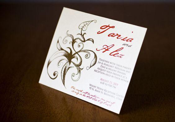 Custom invitation.