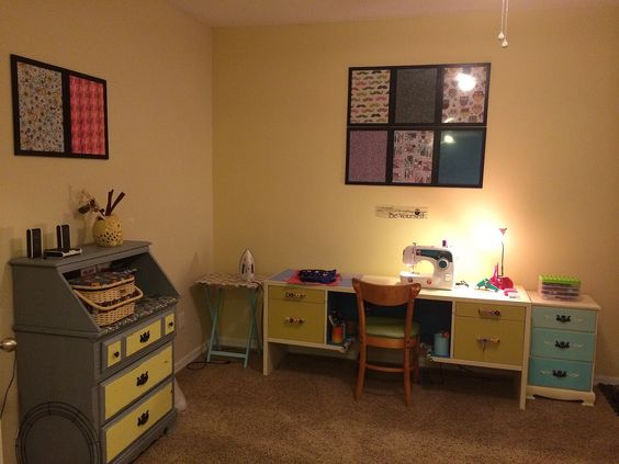 My new sewing area! I think it turned out great!