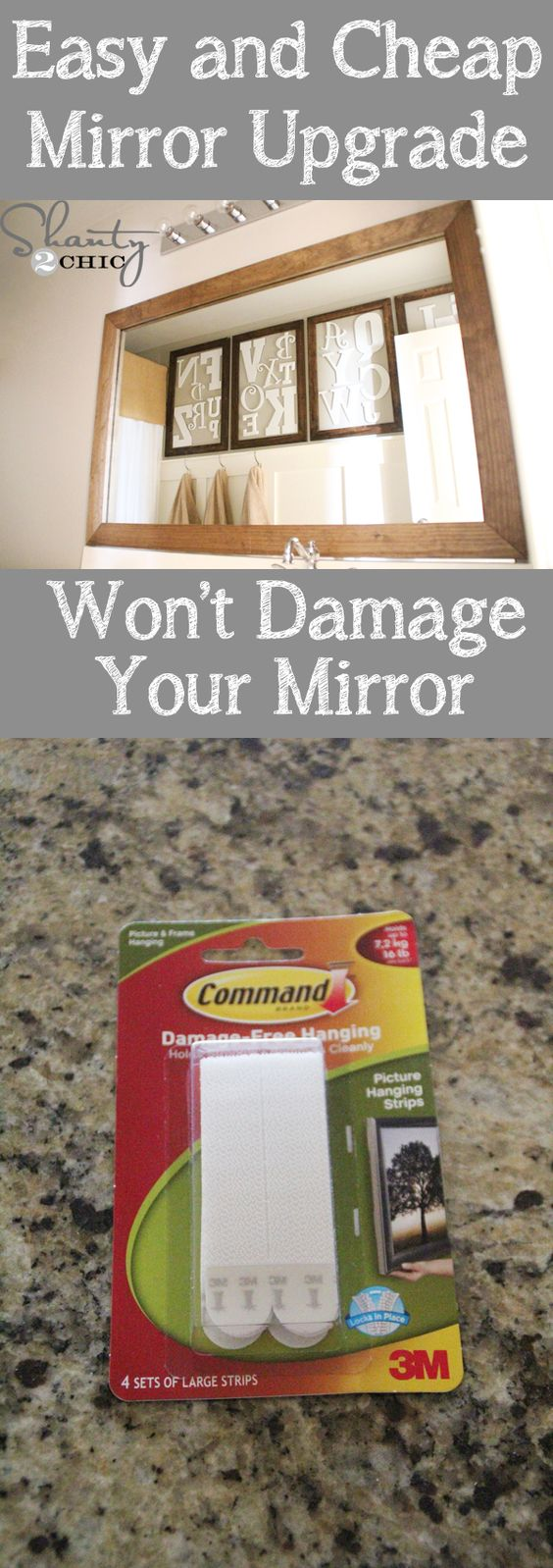 Bathroom mirror cheap - How To Frame A Mirror With Clips In 5 Easy Steps Mirror Frames And Frame A Mirror