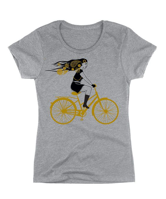 Look at this Athlectic Gray Bike Girl Crewneck Tee on #zulily today!