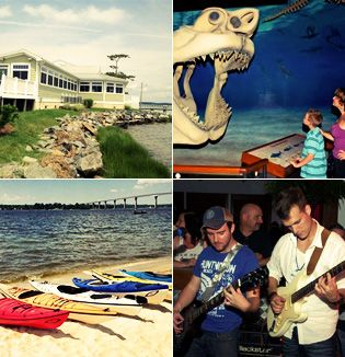 http://ruddyduckadventures.com Marine museum, waterfront dining, kayaking, live bands!