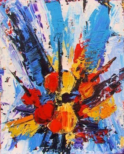 Concerto pour violon peintures photos et chevalets - Peindre sur de la peinture brillante ...