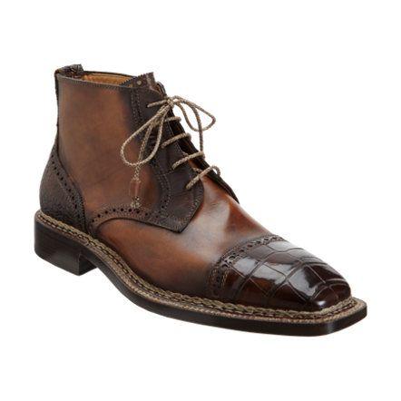 BETTANIN & VENTURI  Exclusively Ours  Croc Cap Toe Derby Boot  $1,750 #barneys