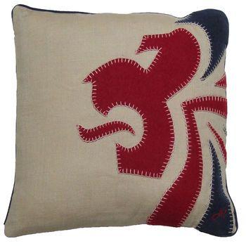 Linen Team GB lions head cushion.