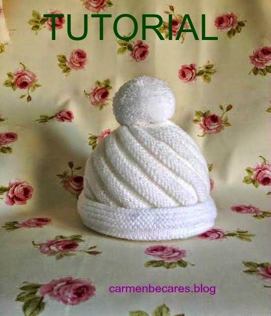 Tutorial gorro de lana para bebe tejido dos agujas - Puntos de lana a dos agujas ...