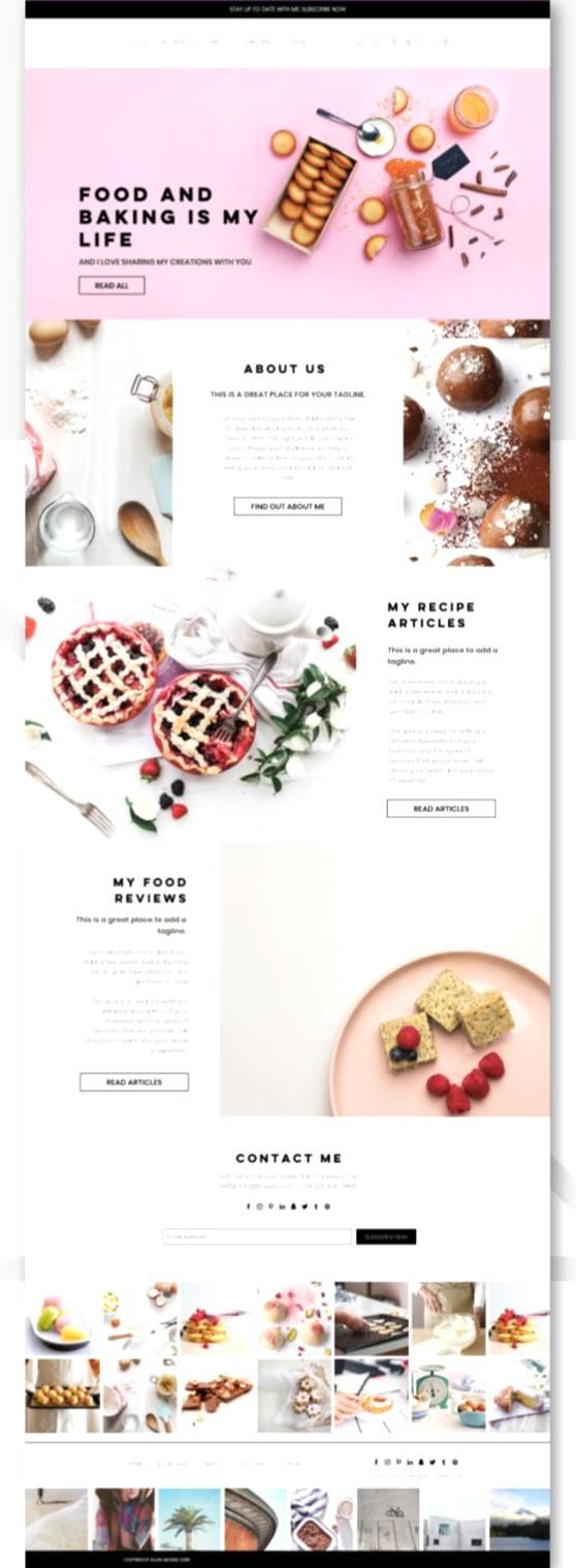 Sweetie Food And Recipe Blog We Template Wix Wixwe Wixwetemplate Wedesigninspiration Wedesign Onlineblog Food Blog Design Beautiful Place Card Holders