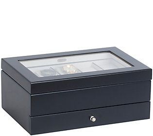 Mele & Co. Grant Wooden Watch Box in Java Finish