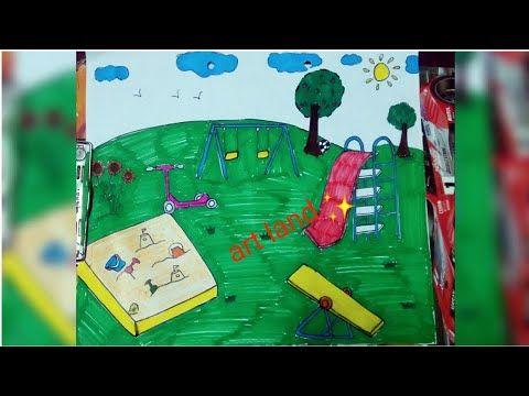 رسم مدينة الملاهي سهل و جميل خطوة بخطوة How To Draw Play Ground Step By Step Youtube Drawings Art Make It Yourself