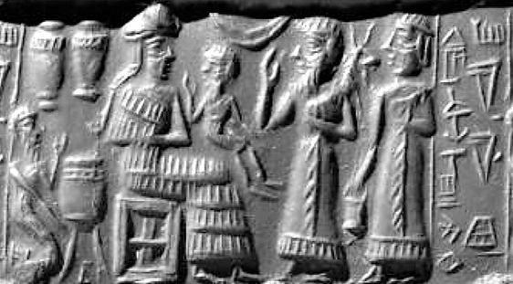 Enki, King Anu's Eldest Son, Headed 1st Group of 50 to Arrive on Earth Colony, God of Waters, Slide Show: | Mesopotamian Gods Kings