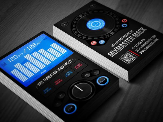 Digital DJ Business Card Dj Business Cards Card Templates And - Free dj business card template