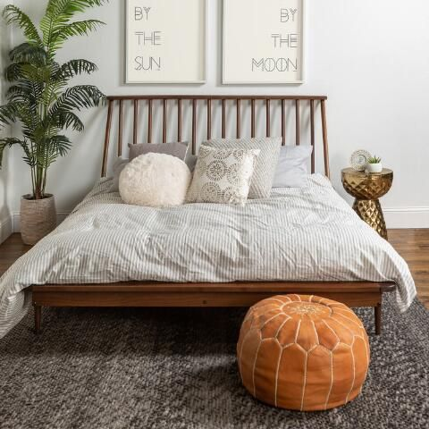 Wood Spindle Archer Queen Bed Bedroom Furniture Beds Country