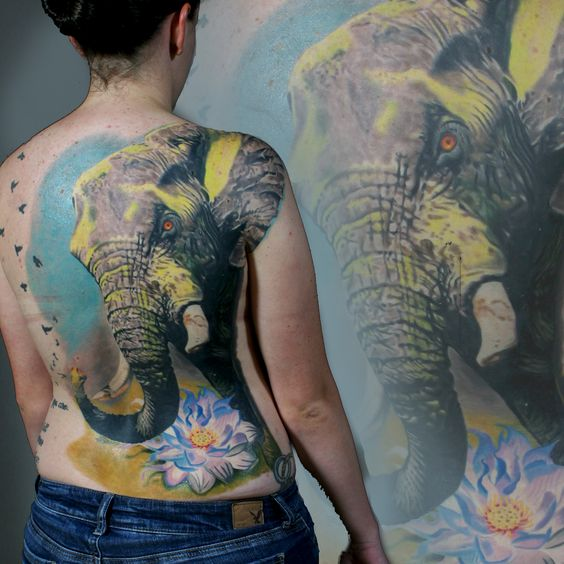 Sean o 39 pry hawaii and tattoos and body art on pinterest for Back mural tattoo designs