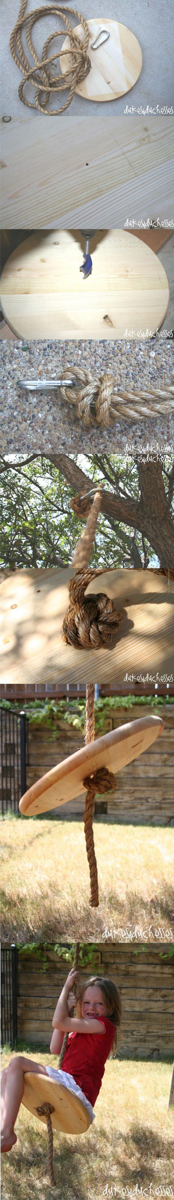Ingenioso columpio una cuerda / via http://dukesandduchesses.com/