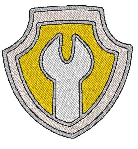 Pat'Patrouille Badge Ruben motif de broderie par JoliKrea ...