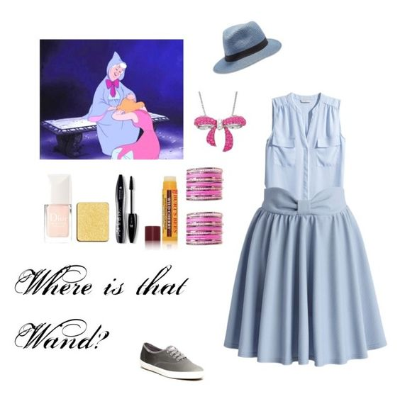 """""""Fairy godmother"""" by mysterylullaby on Polyvore featuring Disney, Amanda Rose Collection, Lucky Brand, Keds, Burt's Bees, shu uemura, Lancôme, Christian Dior, H&M and Chicwish"""