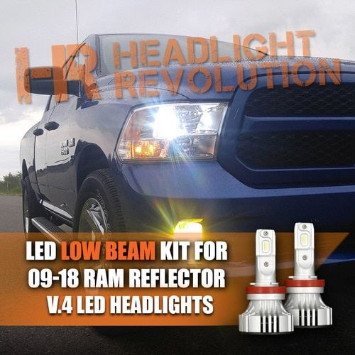 Upgrade The Headlights On Your Dodge Ram Reflector High Beams With H11 Led Headlights Reflectors Dodge Ram Beams