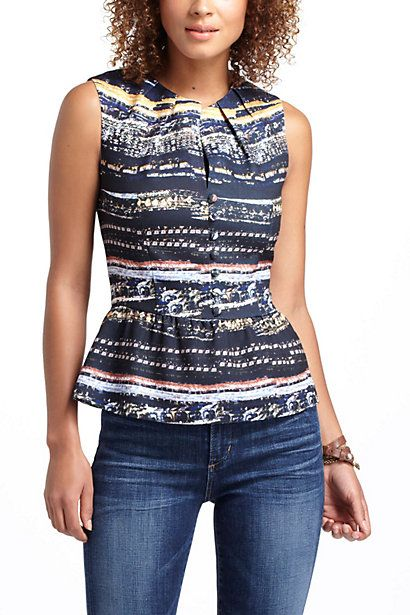 Awesome top and outfit overall.  Sonia Peplum Blouse #anthropologie