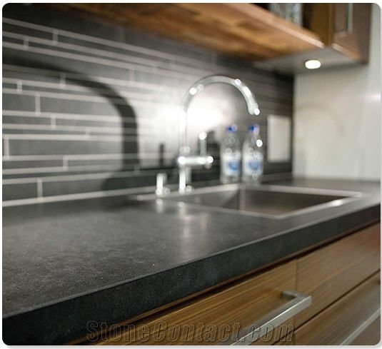 Honed Countertop Materials : countertops honed granite black granite countertops countertops ...
