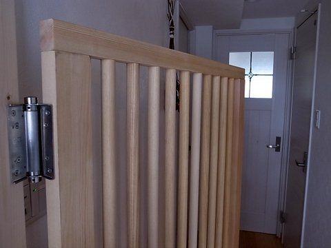 天然木の猫脱走防止ドア完成 Tall Cabinet Storage Storage Cabinet