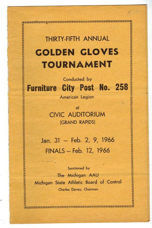 Program for 35th Annual Golden Gloves boxing tournament - 1966