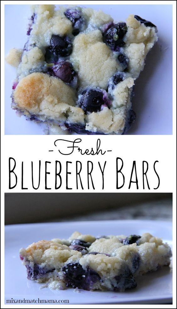 Fresh Blueberry Bars (yummy for dessert or breakfast!)