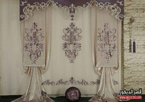 ستائر كلاسيك فخمة للصالون والريسبشن موديلات عام 2019 قصر الديكور Roman Shade Curtain Curtains Home Decor
