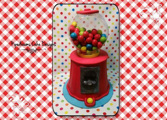 Gumball machine cake.