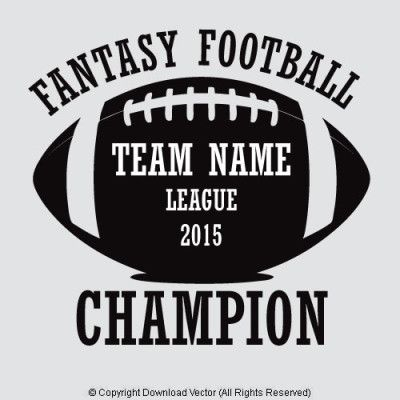 Fantasy Football Champion T shirt Design Template by Download Vector