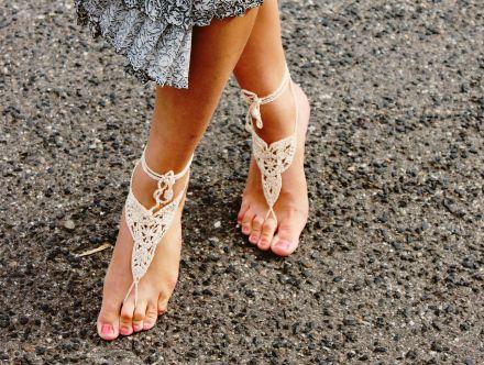 Barefoot Sandals, www.etsy.com/shop/Bennelle, www.bennelle.com