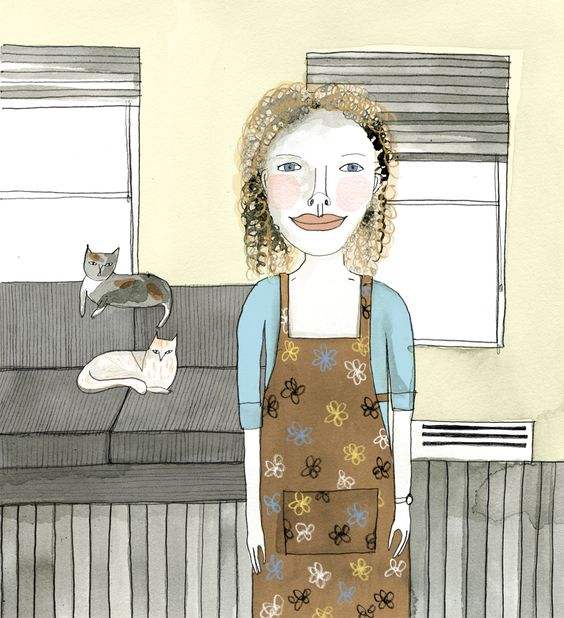 Today is my friend Jerusha's birthday - I have long been wanting to draw a portrait of her with her cats - and today was the perfect d...