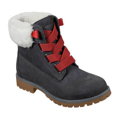 Women S Skechers Cypress Big Plans Ankle Boot Charcoal Boots