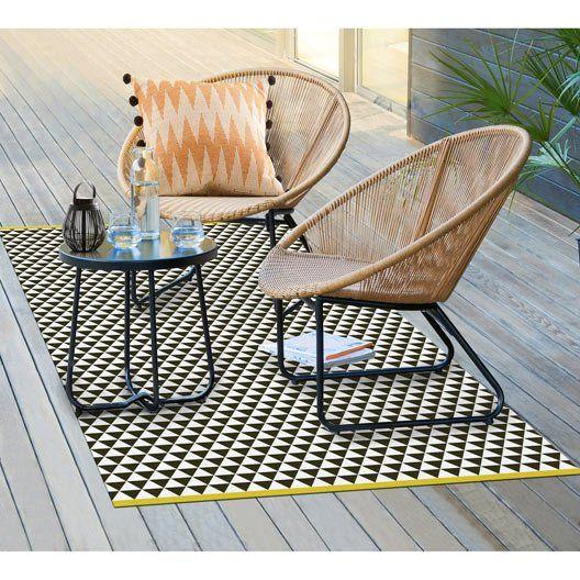 Tapis De Sol Noir Verona 180cm Tapis Jardin Tapis Exterieur Mobilier De Salon