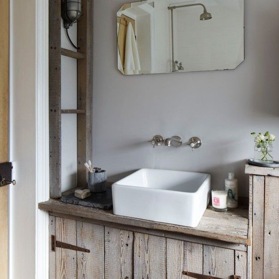 Rustic wood bathroom | Eclectic decorating ideas | Ideal Home | Housetohome.co.uk