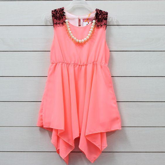 Little Muffet Gorgeous Peach Party Dress -Party- -Dress- -Peach ...
