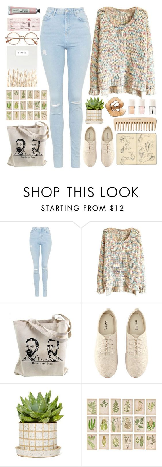 """I'll make it easy"" by annaclaraalvez ❤ liked on Polyvore featuring Topshop, H&M, Moleskine and The Body Shop"