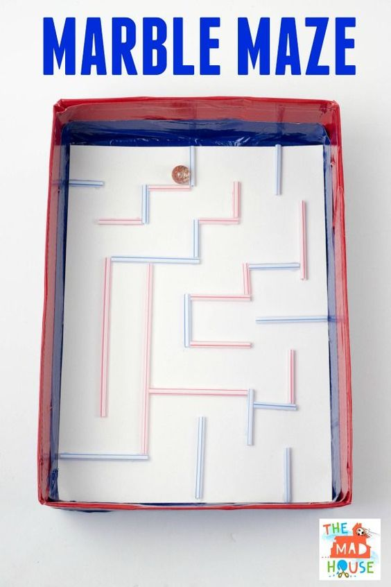 This fun marble maze is great fun for kids.  It is easy to make with things that you will have in the house.: