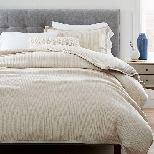 Cotton Cloud Jersey Duvet Cover Shams Neutral Duvet Covers Duvet Covers Neutral Duvet